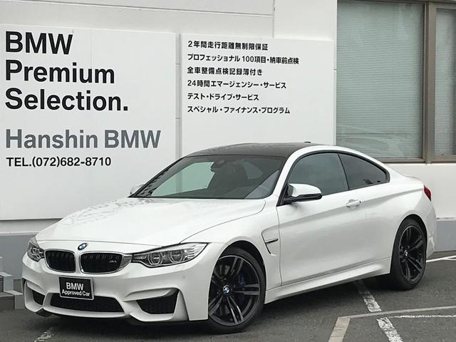 BMW M4クーペ認定保証6MT黒革19inアルミMサスペンション