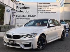 BMWM3後期LCI赤革1オーナー純正19AWパドルシフト認定保証