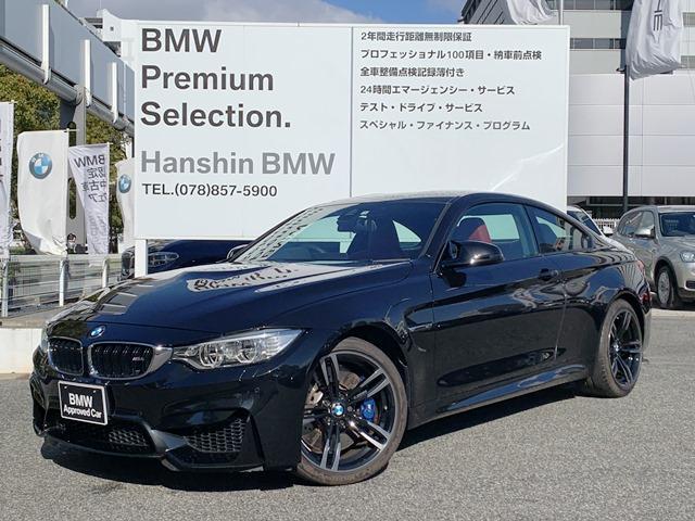 BMW M4クーペ認定保証Mサス赤レザー19inアルミHDDナビ