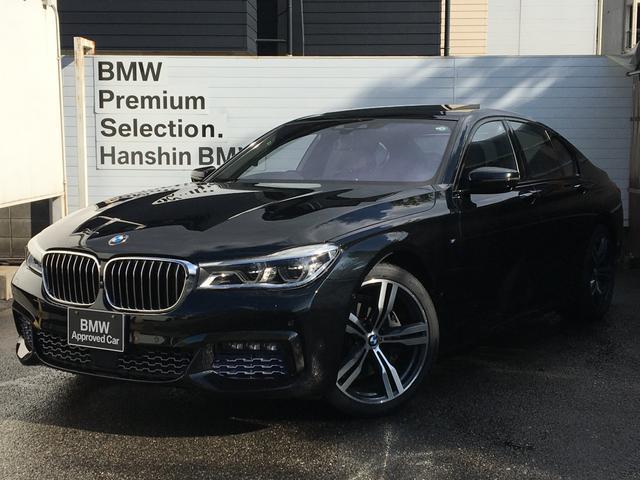 BMW 740i Mスポーツ リアコンフォートパッケージ モカレザーシート 20AW ハーマンカードンサウンドシステム シートエアコン マッサージシート パドルシフト サンルーフ ACC 電動リアゲート ヘッドアップディスプレイ