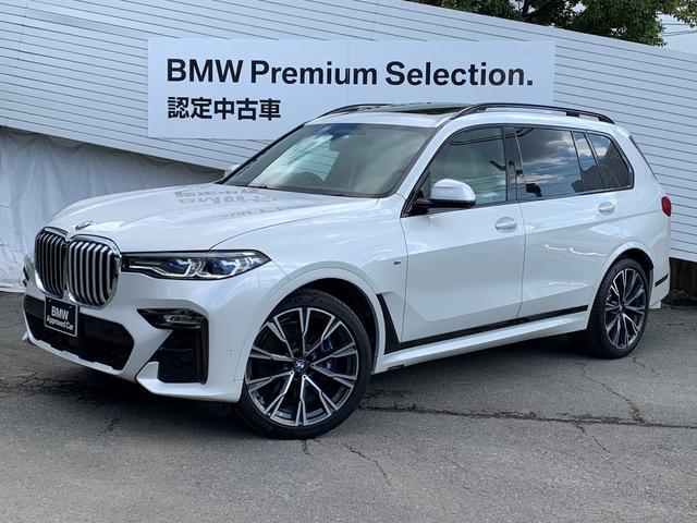 BMW xDrive 35d Mスポーツ スカイラウンジサンルーフ リアエンターテイメント インディビジュアル22インチアルミ ウェルネスパッケージ ステアリングヒーター 6人乗り レーザーライト アイボリーレザー 5ゾーンエアコン 1オーナ