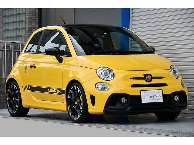 アバルト コンペティツィオーネ Giallo Modena&ブラックルーフ 禁煙車 Make your scorpion特別カラー 後期モデル ユーコネクト 当社ユーザー様買取 5速MT 実走6,700km