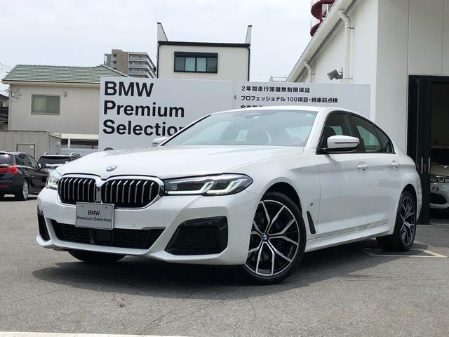 BMW 5シリーズ 530i Mスポーツ 弊社デモカー ブラックレザー 後期型 LCI アクティブクルーズコントロール アダプティブLEDヘッドライト 電動シート シートヒーター 純正19インチAW