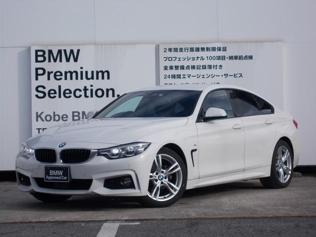 BMW 420iグランクーペ Mスポーツ ワンオーナー アクティブクルーズコントロール 純正HDDナビゲーション 純正18インチアルミホイール アルカンターラクロス ミラーETC