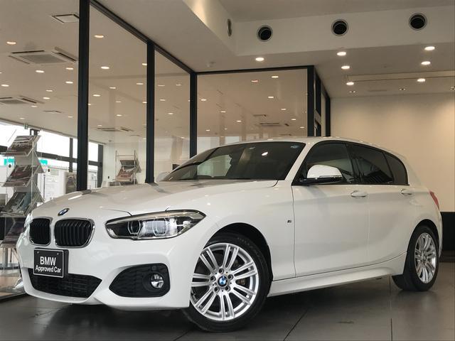 BMW 1シリーズ 118d Mスポーツ 後期モデル 前タイヤ2本新品 LEDヘッドライト クルーズコントロール 衝突軽減ブレーキ 車線逸脱防止 純正HDDナビ バックカメラ 純正17インチアルミホイール Bluetooth&USB接続可