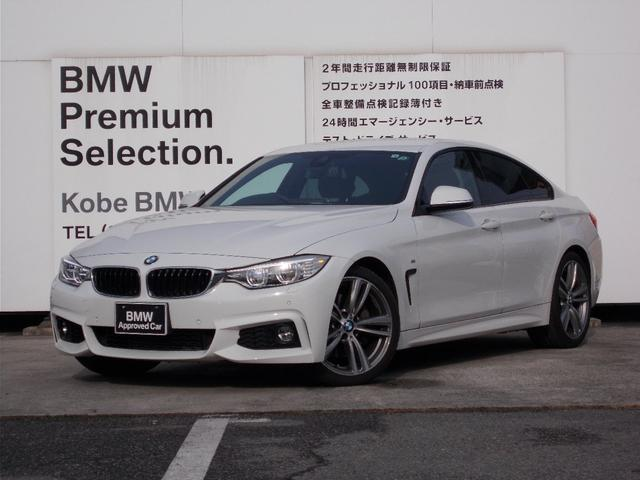 BMW 435iグランクーペ Mスポーツ LEDヘッドライト HDDナビゲーション ブラックレザーシート シートヒーター19インチアルミホイール アクティブクルーズコントロール リヤビューカメラ コンフォートアクセス メモリー機能付きシート