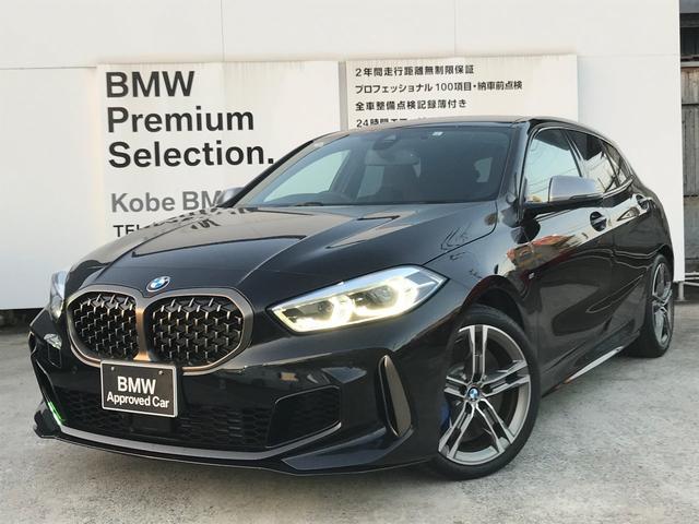 BMW 1シリーズ M135i xDrive ワンオーナー デビューPKG ACC 軽減ブレーキ車線逸脱防止 純正HDDナビ 地デジチューナー コンフォートアクセス 電動リアゲート LEDヘッドライト ミラーETC