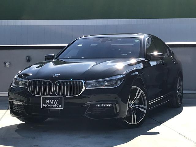 BMW 7シリーズ 740i Mスポーツ LEDヘッドライト エクスクルーシブナッパレザー シートヒーター ベンチレーションシート 20インチアルミホイール ワンオーナー 電動トランク 電動ガラスサンルーフ ヘッドアップディスプレイ