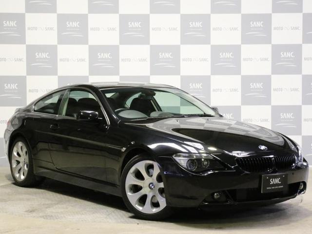 BMW 645Ci右H黒革 Cセンサー19AWガラスR ノーマル車