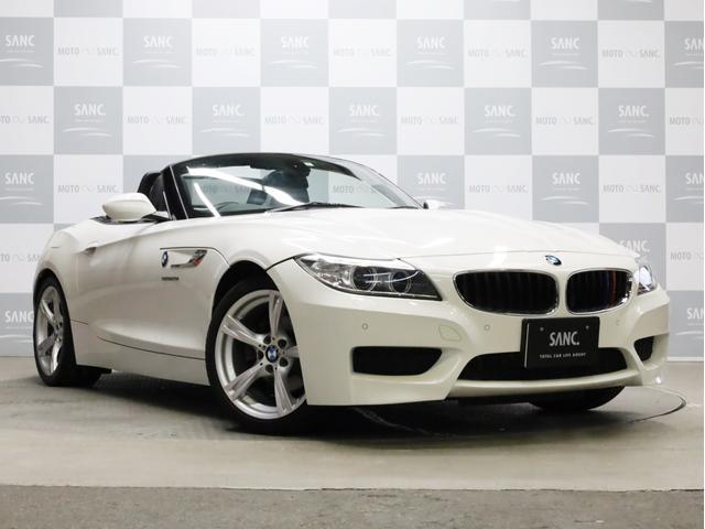 BMW Z4 sDrive20i Mスポーツパッケージ 禁煙 黒革 メモリー付パワーシート シートヒーター 純正HDDナビ フルセグTV Bluetooth接続可 バイキセノン  ミラー内蔵ETC ウインドウディフレクター 取説 新車時保証書 スペアキー