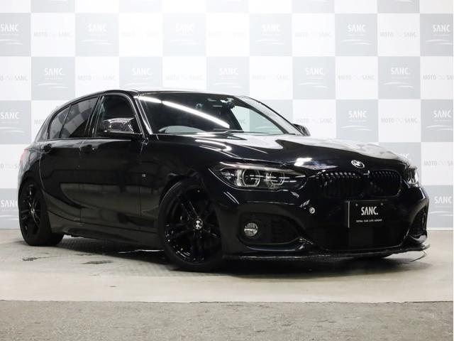 BMW 118d Mスポーツ エディションシャドー メーカー保証継承R3年12月まで 禁煙 黒革 MaxtonデザインFリップ アイバッハ車高調 スーパースプリントマフラー arcタワ-バ- K&Nエアクリ