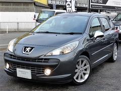 プジョー 207SW GTi 正規D車 黒革 ナビ地デジ HID Gルーフ