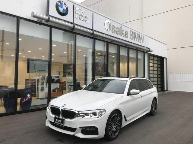 BMW 523iツーリング Mスポーツ 弊社下取ワンオーナー・ハイラインパッケージ・ブラックダコタレザー・・フロントシートヒーター・ランバーサポート・電動パノラマサンルーフ・HDDナビ・ETC2.0・衝突被害軽減ブレーキ・LEDヘッドライト