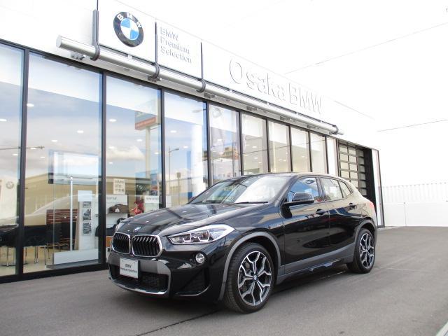 BMW X2 sDrive 18i MスポーツX デモカー 新車保証継承 アドバンスドセーフティ&コンフォートP アクティブクルーズ シートヒーター ヘッドアップディスプレイ 19インチAW 衝突軽減ブレーキ LEDヘッドライト Bカメラ
