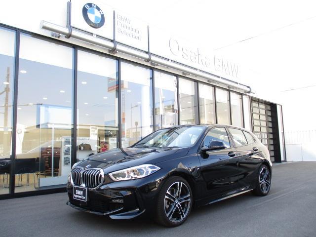 BMW 118i Mスポーツ 弊社デモカー・アクティブクルーズコントロール・純正HDDナビ・電動リアゲート・バックカメラ・ワイヤレス充電・LEDヘッドライト・ETC車載器