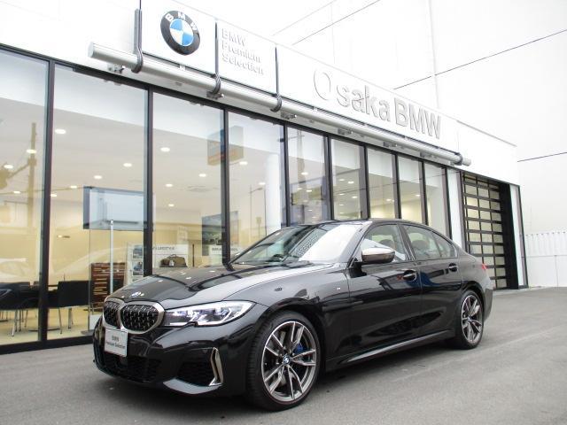 BMW 3シリーズ M340i xDrive 弊社デモカー・パーキングアシストプラス・コニャックレザー・ヘッドアップディスプレイ・レーザーライト・i driveナビ・ルームミラー内蔵ETC2.0・衝突被害軽減ブレーキ・19インチアロイホイール