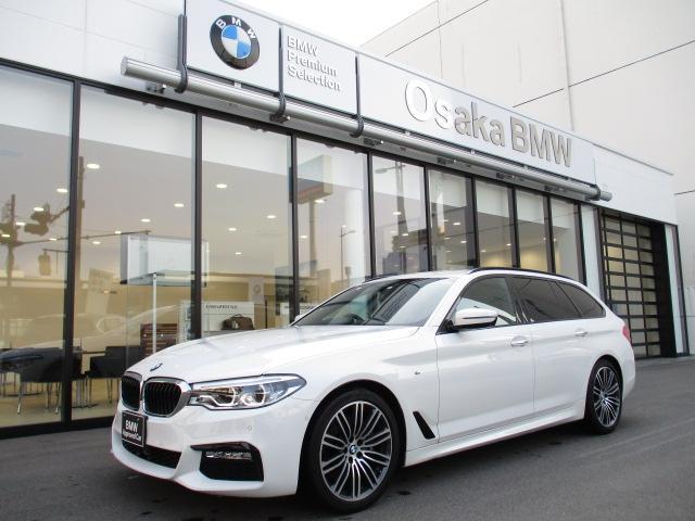 BMW 530iツーリング Mスポーツ 弊社下取ワンオーナー車 ブラックレザー イノベーションパッケージ ヘッドアップディスプレイ ACC ジェスチャーコントロール 前後シートヒーター LED リアガラスフィルム 衝突被害軽減ブレーキ