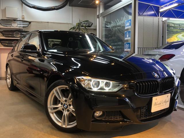BMW 320d Mスポーツ アクティブクルーズコントロール 追従レーダー 衝突軽減ブレーキ 車線逸脱センサー Mスポーツ純正18インチAW スポーツサスペンション 純正HDDナビ ミラーETC スマートキー PWシート 禁煙