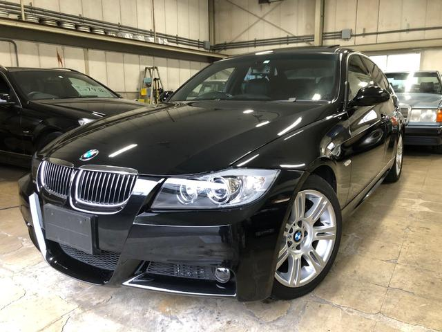 BMW 325i Mスポーツパッケージ 純正HDDナビ CD・MD・DVD・外部入力端子 ミラーETC チルト機構付スライディングルーフ ヒーター付ブラックフルレザーシート 取説・保証書・整備手帳・キーレスキーx2 禁煙車
