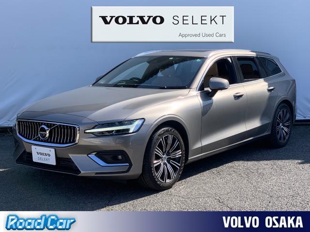 ボルボ V60 T5 インスクリプション 2019モデル/サンルーフ/本革シート/シートヒーター/エアシート/黒革ステアリング/パイロットアシスト/10スポーク18インチAW/ワンオーナー禁煙車