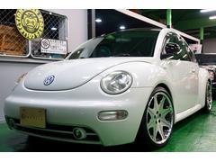 VW ニュービートルターボ 18inchアルミ ローダウン 黒レザーシート
