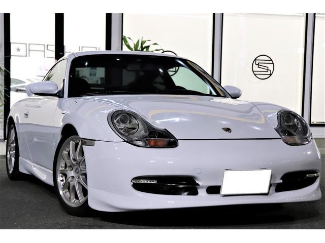 ポルシェ 911カレラ GT3仕様 リアウイング 黒革 HID HDD