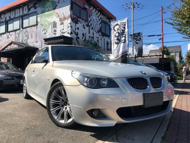 BMW 525i Mスポ ベージュ革 iドライブ サンルーフ ETC