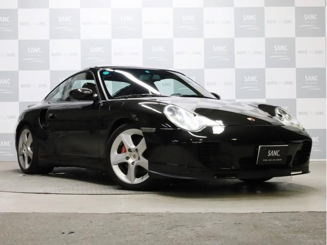 ポルシェ 911ターボ カーボンインテリア バイキセノン スポーツテクノ18インチAW 黒革シート DVD再生 フルセグTV ETC