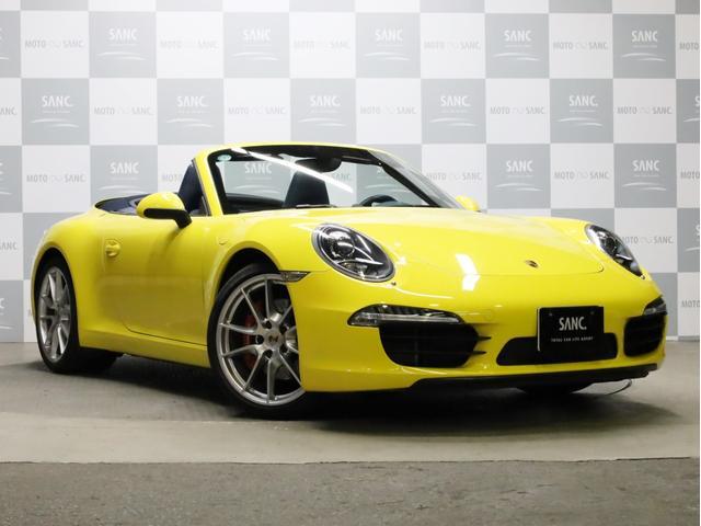 ポルシェ 911 911カレラS カブリオレ 禁煙 左ハンドル ヨッティンブルーインテリア シートヒーター シートベンチレーション ダイナミックコーナリングライト スポーツクロノ フロアマット スポーツデザインステアリング