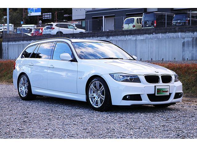 BMW 320iツーリング Mスポーツパッケージ 純正ナビ インターフェイスDTV バックカメラ 純正17AW 社外マフラー(アーキュレー)パワーシート AAC オートライト プッシュスタート 車検R3/9 走行6.5万 HID ETC スペアキー