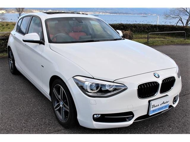 BMW 120i スポーツ  新品タイヤ/赤革仕様/ガラスサンルーフ