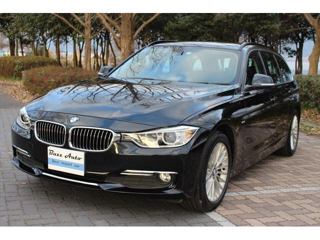 BMW 320dブルーパフォーマンス ラグジュアリー ワンオーナー/黒革シート(前席電動ヒーター付)/電動リアゲート/後席3分割シート/LEDイカリング/純正ナビ/ディーラー整備下取車・車庫保管・禁煙車
