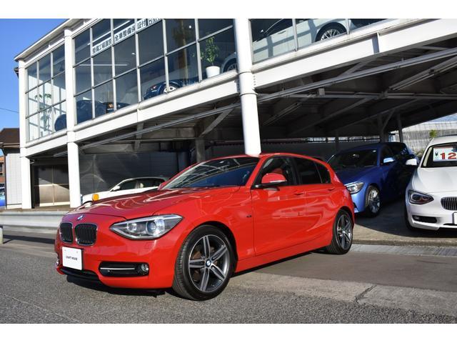BMW 120i スポーツ 赤革 ナビ&バックカメラ 整備保証付