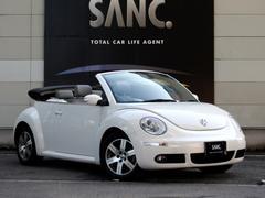VW ニュービートルカブリオレLZ 1オナ 禁煙 グレー革 ナビBカメ 電動オープン