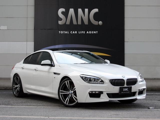 BMW 640iグランクーペ 禁煙 黒革 ナビTVBカメ ガラスSR