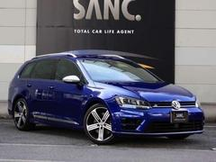 VW ゴルフRヴァリアント禁煙黒革 ナビTVBカメ 被害軽減ブレーキ ACC スマキー