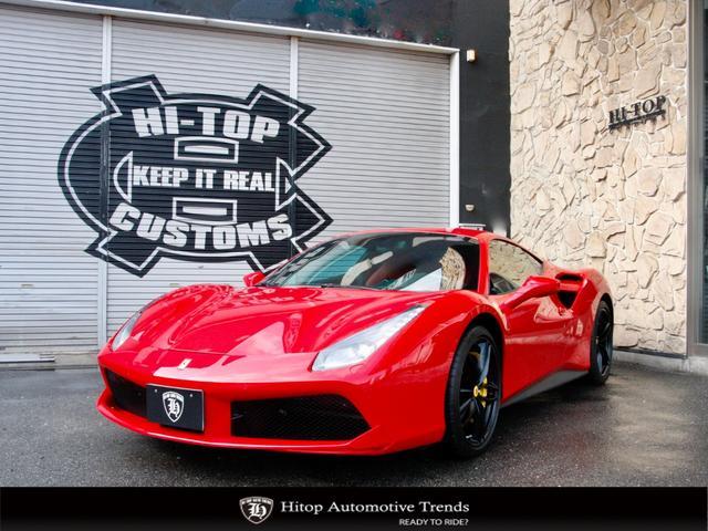 フェラーリ ベースグレード F1 DCT D車 左H ロッソコルサ リフター 鍛造20AW カーボンステアリング+LED Bカメラ  F・Rパーキングセンサー イエローキャリパー アイドリングストップ