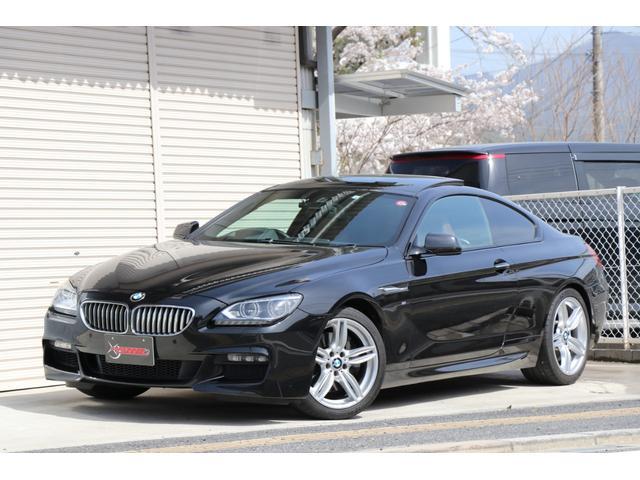 BMW 650iクーペ Mスポーツパッケージ ディーラー記録簿7枚 ワンオーナー 禁煙車 サンルーフ LEDヘッドランプ ヘッドアップディスプレイ純正HDDナビ 地デジ Bluetooth  ブラウンレザーシート 取扱説明書 走行テスト済車輛