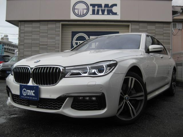 BMW 750i Mスポーツ 茶革 サンルーフ リアエンタ ACC
