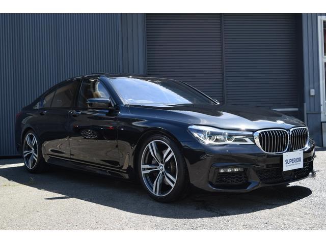 BMW 740i Mスポーツ SR/シートヒーター/茶革シート/ヘッドアップディスプレイ/レーザーライト/ハーマンカードンサウンド/ACC/ブラインドスポットレーダー/パワートランク/純正20インチAW/エアサス