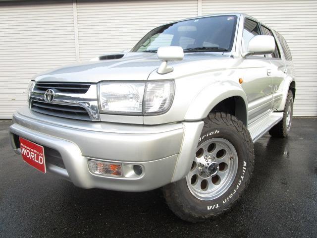 トヨタ ハイラックスサーフ SSR-X 最終型 4WD 30ディーゼルターボ 社外HDDナビフルセグ Bluetooth対応 背面レス 社外16インチアルミ