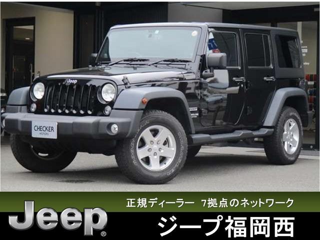 クライスラー・ジープ スポーツ ナビ/地デジ Bカメラ ETC ブラック 4WD