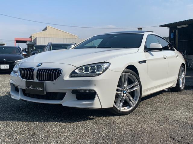 BMW 6シリーズ 640iグランクーペ Mスポーツパッケージ ブラックレザーインテリア LEDヘッドライト サンルーフ 20インチアルミ 純正HDDナビ フルセグTV バックカメラ 電動シート 障害物センサー