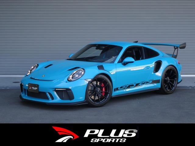 ポルシェ 911 GT3RS Miami Blue 正規D車 左H 屋内保管 登録済み未使用車 PDK スポーツクロノPKG クラブスポーツPKG Fリフトシステム LEDメインブラックヘッドライト