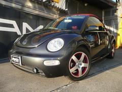 VW ニュービートルカブリオレダークフリント限定車赤革HID記録簿LEDテールシートH