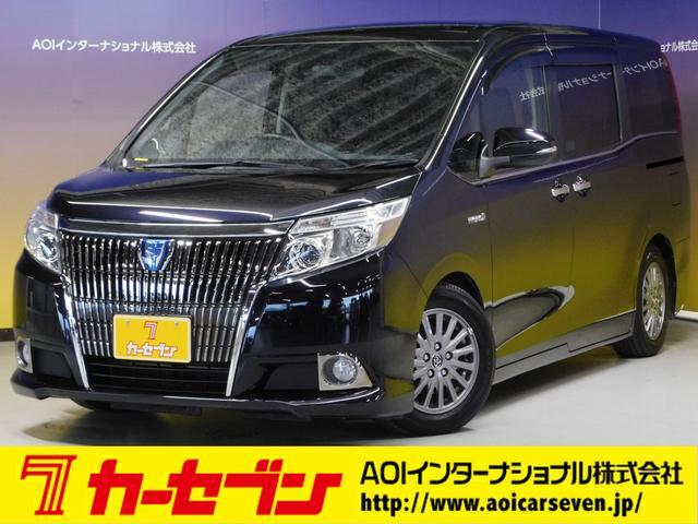 トヨタ ハイブリッドGi 10型ナビ・12.8型後席モニター フルTV バックカメラ 両側電動スライドドア 車高調 クルコン レザーシート シートヒーター 純正15AW スマートキー