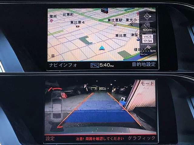 純正HDDナビは地デジ&バックモニター装備!!ナビのスピードロックもキャンセル済みで走行中も視聴可能です♪ MMIの操作も可能