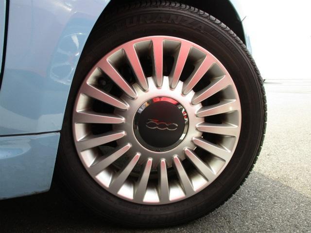 フィアット フィアット 500 アッズーラ 限定モデル ワンオーナー ポータブルナビ
