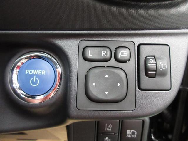 ハイブリッドといえばやはりプッシュスタート。ワンプッシュでシステムが始動します。ミラーは電動格納式で狭い駐車場でも安心です。