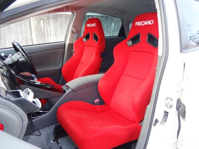 トヨタ プリウス G エアロ 車高調 WORK18in マフラー レカロシート